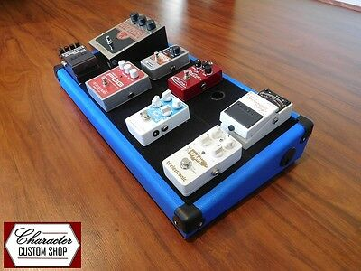 Character Custom Shop – Royal Blue Guitar Effects Pedal Board *Fender Boss Strat