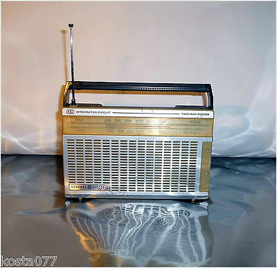 Vintage, GE, General Electric AM/FM IC Two Way Power Radio, Model No. 7-2650A