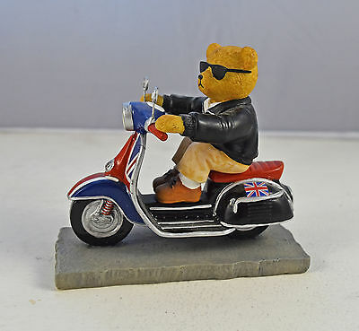 The Hamilton Collection Scooter Bears 'Cool Beartannia' Figurine