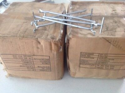 200 slatwall hooks  150 Chromed BRAND NEW excellent quality shop fitting