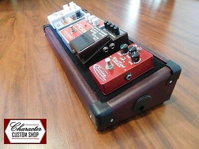Character Custom Shop – Wine Red Guitar Effects Pedal Board *Fender, Boss Gibson