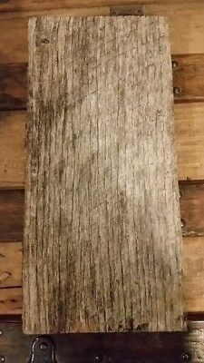Rustic weathered barn wood slab - Reclaimed Primitive wood 1 pc