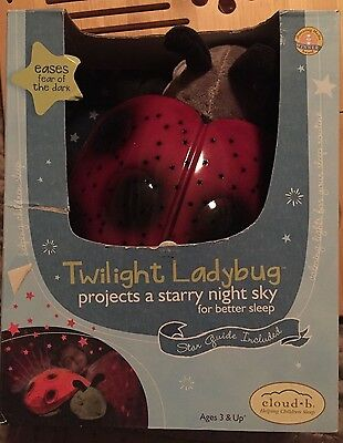 Cloud B Twilight Red Ladybug Constellation Starry Night Light BNIB