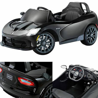 battery powered car for kids ride on toy 6v electric dodge viper black vehicle