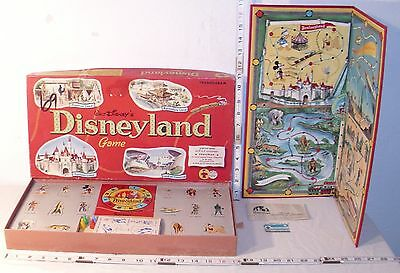 WALT DISNEY'S DISNEYLAND BOARD GAME 1950s BOXED BY TRANSOGRAM COMPLETE