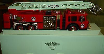 1997 TEXACO AERIAL TOWER FIRE TRUCK - Gold 95th ANNIVERSARY MINT