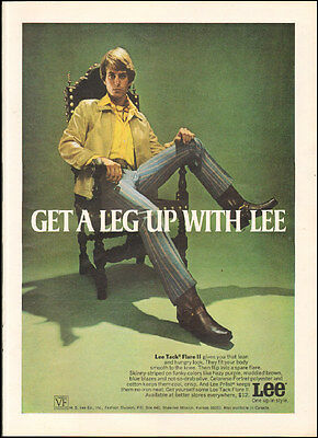 1970 Vintage ad for Lee Tack Flare II 70's fashion Photo (091616)