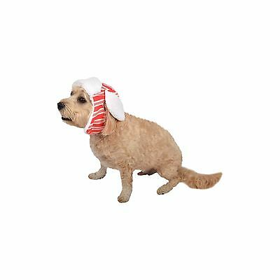 New ! Dog Costume Red Stripe Trapper Hat Pet Costum for Dog Clothes XS  S M L XL