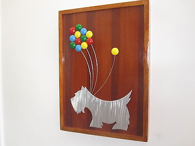 Scottie Dog with balloons Picture