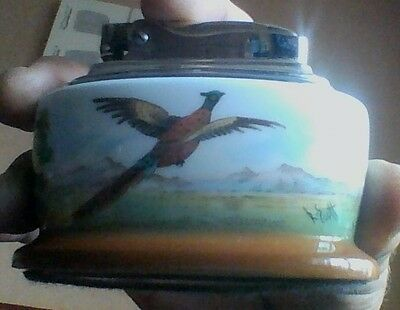 Minton Bone China Painted And Signed Table Lighter