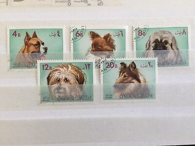 Oman State 1972 MNH Stamps Dogs