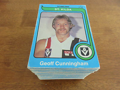 1980 Scanlens Vfl Cards. Complete Set. Near Mint Condition.