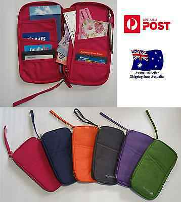 New Travel Wallet Passport Id Holder Document Credit Card Organizer Bag
