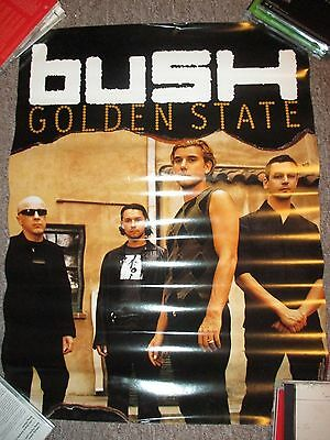 "Bush - Golden State Poster, 18"" x 24"",(2001 Atlantic), Near Mint"