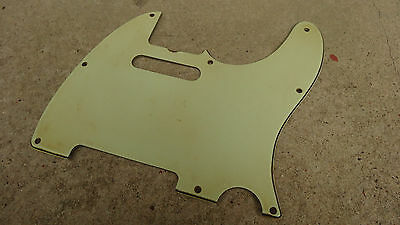 Aged Relic Mint Green White Telecaster 60s guitar pickguard 3ply fits Fender