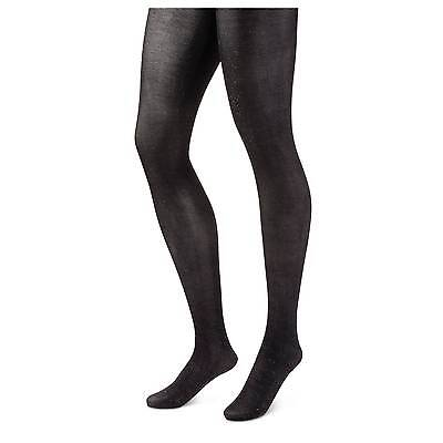 NEW Size 2X 18/20 Ashley Stewart black sparkle Footed Tights 180-230 Lb. USA