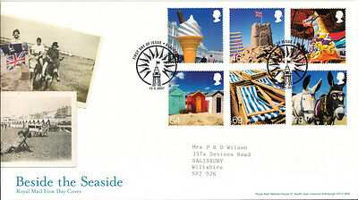 FDC Beside the Seaside 2007, Royal Mail First Day Cover