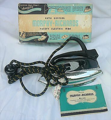 Retro Morphy Richards Electric Iron New Old Stock