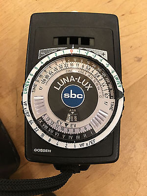 GOSSEN LUNA LUX SBC photography light meter  **TESTED**  free shipping
