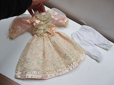 """NEW SATIN & LACE  Victorian Style Doll Dress for Vintage Antique, China 18"""" DOLL"""