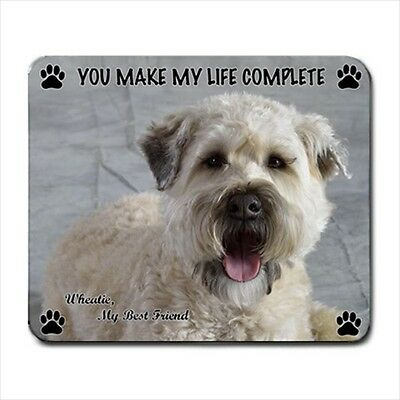 New Design Cute Adorable WHEATEN TERRIER Dog Puppy Rubber Computer MOUSE PAD Mat