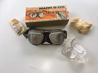 Vintage Stadium Motorcycle Goggles Aviator Scooter