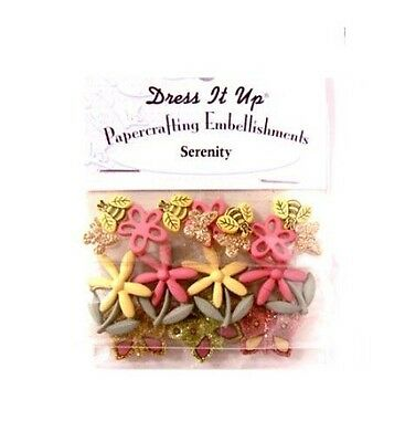 Dress it Up Papercrafting Embellishments - Serenity
