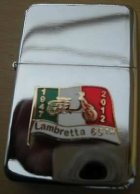 Lambretta Innocenti 1947 2012 65 Years Silver Star Lighter With 3D Flag On It