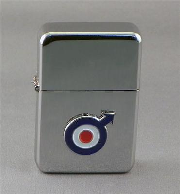 Mod Raf Round Target Arrow Silver Star Lighter 3D Target On It