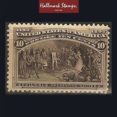 us old stamps 10 cents sepia 1893 columbian expo. unused sg242