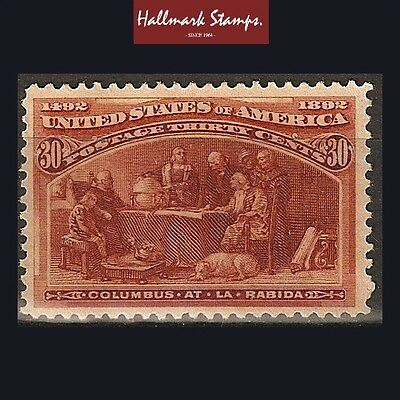 us old stamps 30 cents brown orange 1893 columbian expo. unused sg244