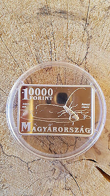10000 Forint Rectangle 1 oz Silver Proof Duna-Ipoly National Park Hungary 2015