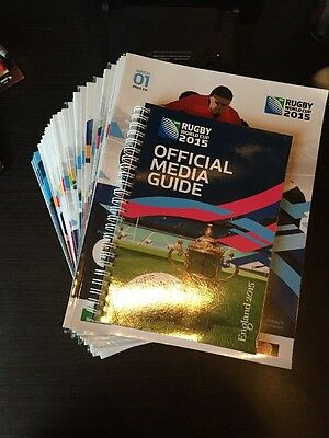 26 x Rugby World Cup 2015 Programme & Media Guide (Inc Quarters, Semis, & Final)