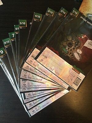 British Lions Programme 2009 - Full/ Complete Set of 10 plus all Tickets & Guide