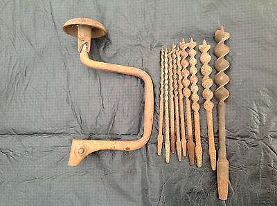 Vintage Mathieson Brace And Bits, Drills, Tools, Handyman, Collectable