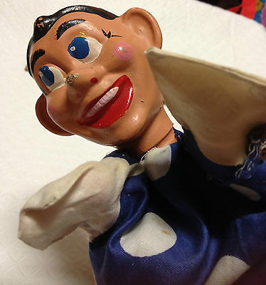 Vintage ?1960's Hand Puppet Head And Clothing Collectable Old