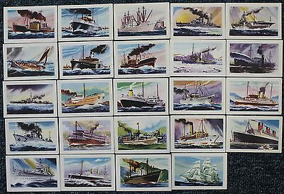 "1940s  Malties Collector Cards - ""KNOW  YOUR  SHIPS""  x 24"