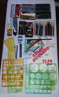 Vintage Used Estate Lot Drafting Materials Templates French Curve Dietzgen