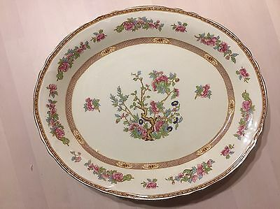 Quality Very Large Serving Plate By Grindley Vintage Style Creampetal Plate