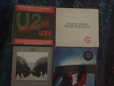 4 x U2 CD'S / CD SINGLES - EVEN BETTER THAN, LIVE, BEST OF, MISSION IMPOSSIBLE
