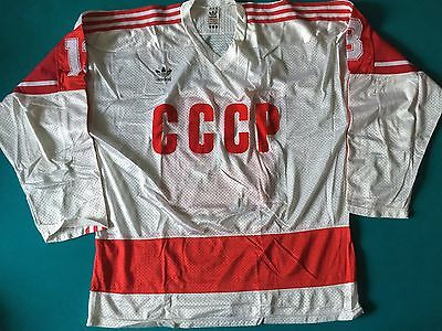 CCCP Russland Russia Game Worn Issued Trikot Jersey Adidas 1985