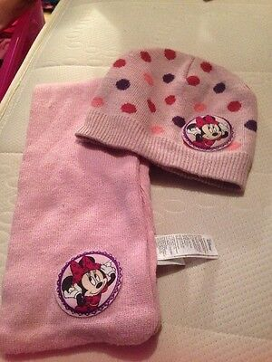 Minnie Mouse Hat And Scarf Set 5-8 Years