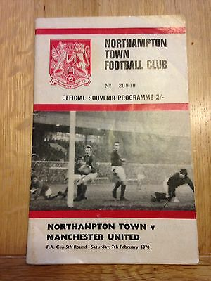 1970 Fa Cup Northampton V Manchester United Programme George Best Scores 6