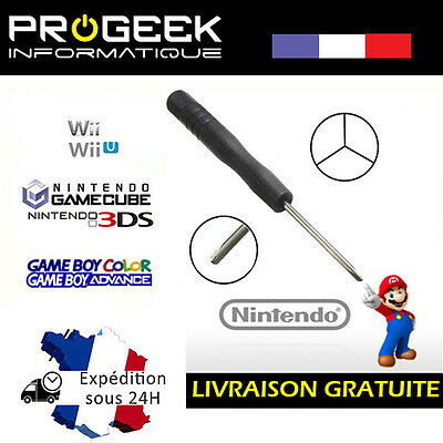 Tournevis Y tri wing 2.0 mm pour  Nintendo Wii DS DSL DSC GBA SP GAMECUBE
