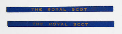 HORNBY COACHBOARDS - Rare ROYAL SCOT