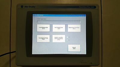 Allen Bradley PanelView Plus 1000 Colour Touch Screen 2711P-RTD10C with 2711P-RP