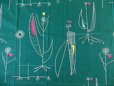 Lucienne Day HERB ANTONY magnificent huge curtain mid50s for Heals ONE of a PAIR