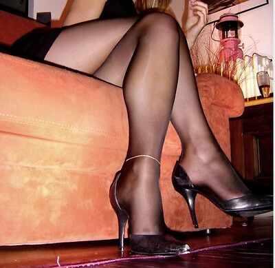 Calze collant donna Usate Nere. Pantyhose Used Black. Work Tights
