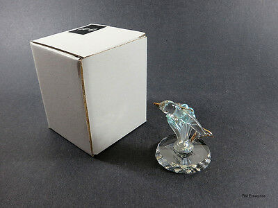 Glass Dolphin and Wave Figurine on Glass Base