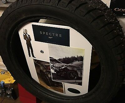 James Bond 007 genuine SPECTRE film prop RANGE ROVER TYRE